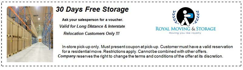 30 Days Storage Coupon